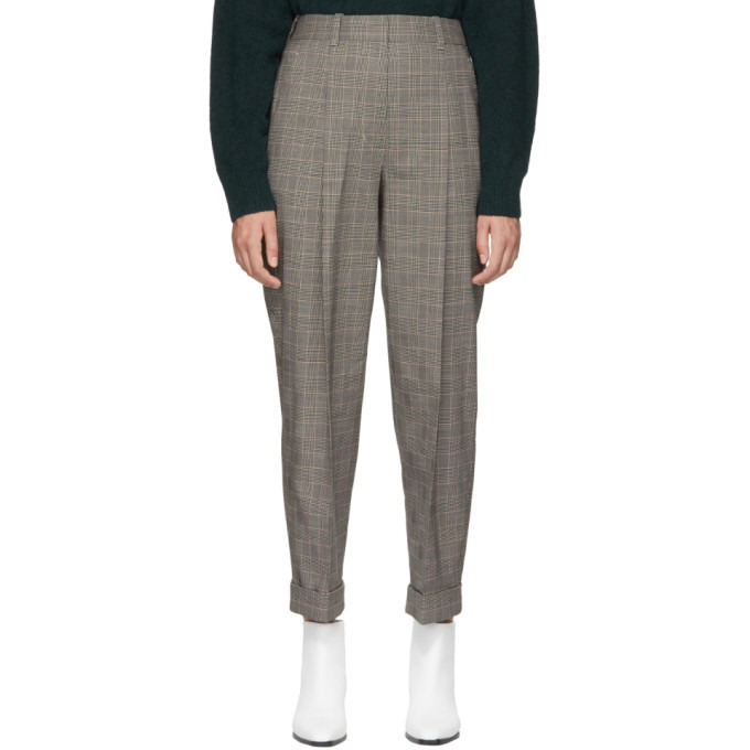 3.1 Phillip Lim Black Houndstooth Tapered Trousers
