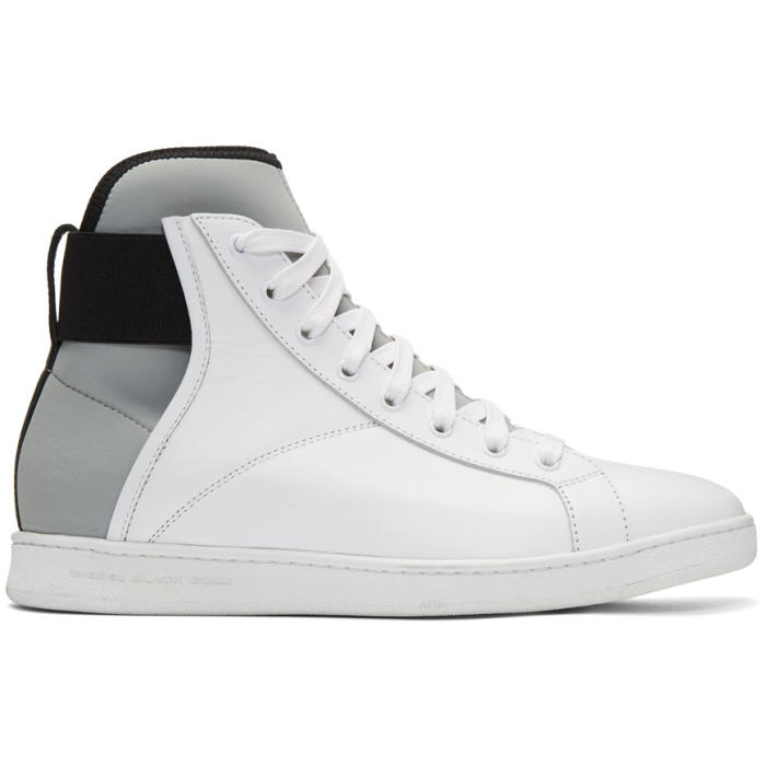 Diesel Black Gold White Leather and