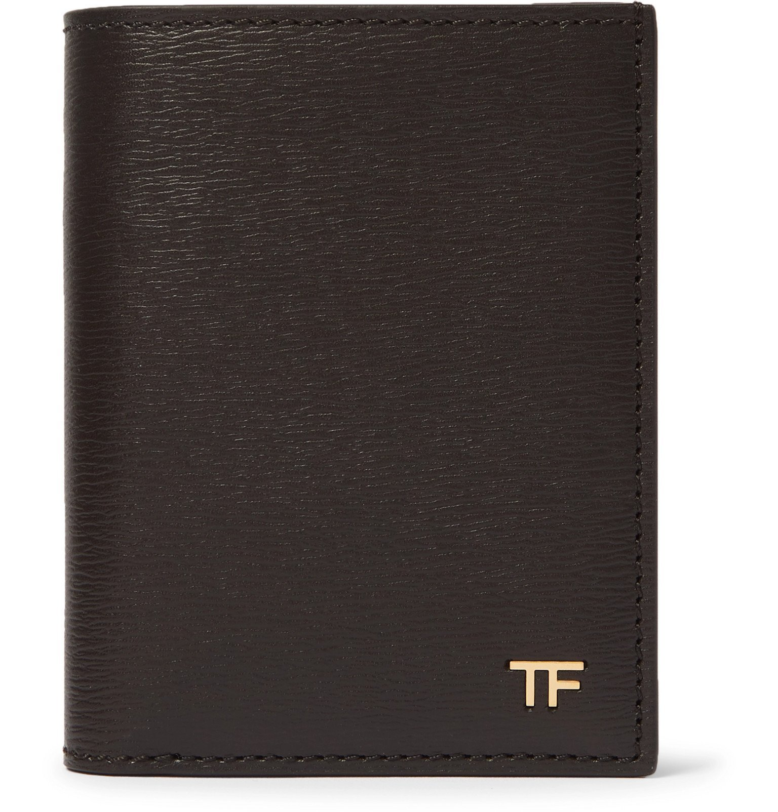Photo: TOM FORD - Textured-Leather Bifold Cardholder - Brown