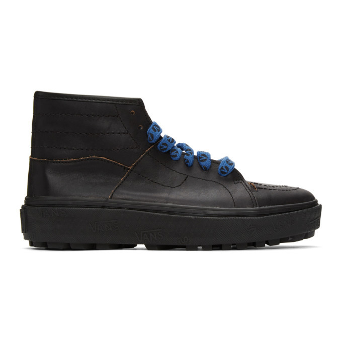Photo: Vans Black Taka Hayashi Edition Sk8-Boot LX Sneakers