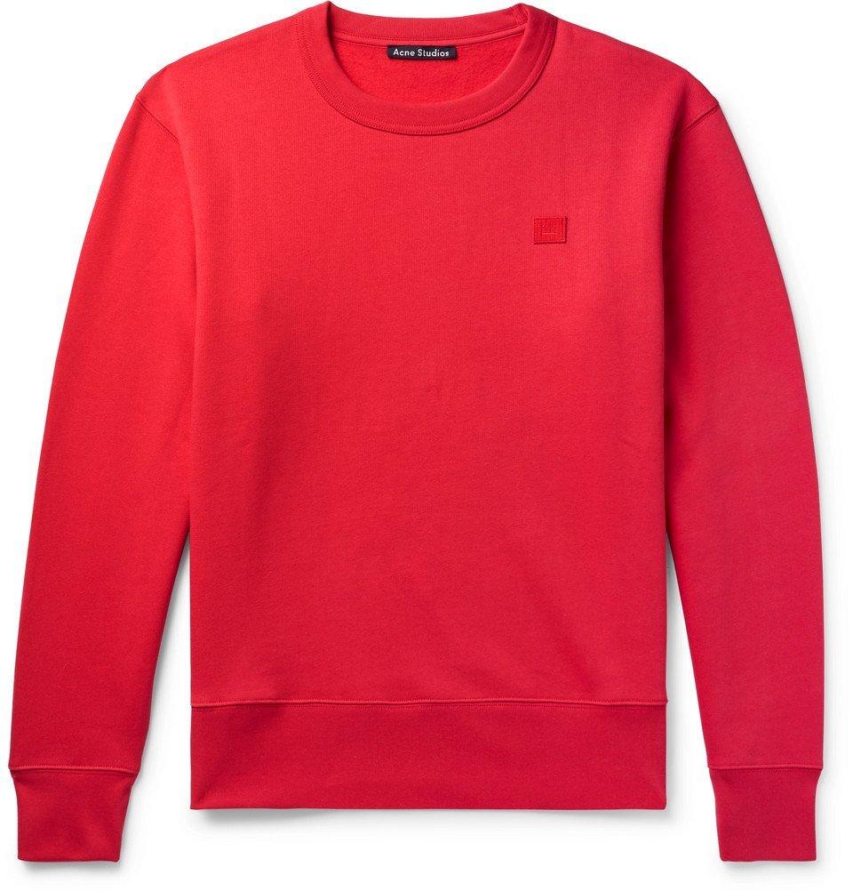 Photo: Acne Studios - Fairview Fleece-Back Cotton-Jersey Sweatshirt - Men - Red