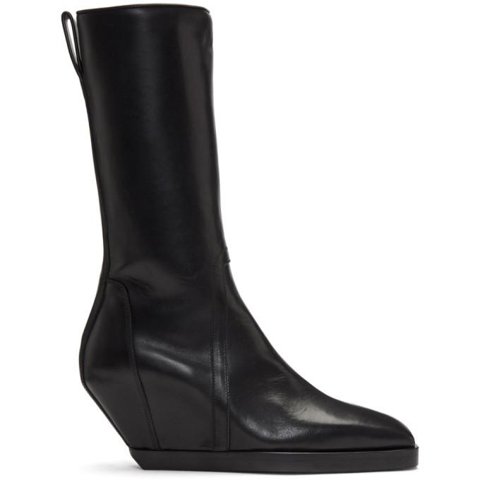 Photo: Rick Owens Black Square Toe Boots