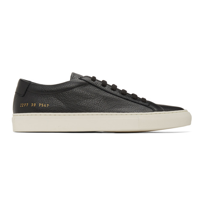 Photo: Common Projects Black Pebbled Achilles Low Sneakers