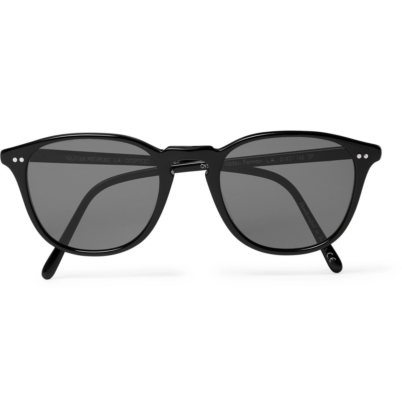 Photo: OLIVER PEOPLES - Forman L.A Round-Frame Acetate Polarised Sunglasses - Black