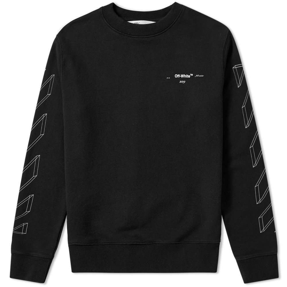 Photo: Off-White Diagonal 3D Lines Crew Sweat