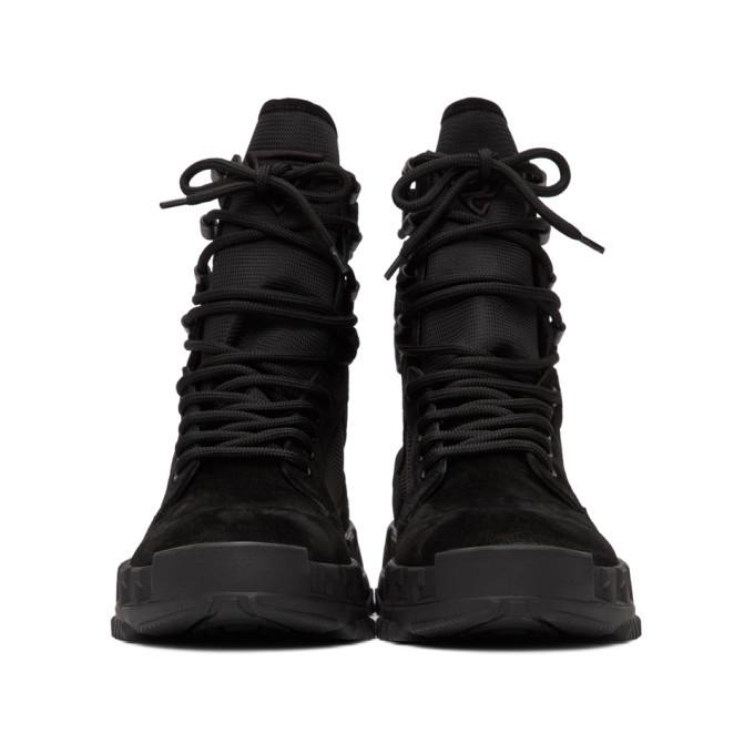 Versace Black High Sneaker Boots