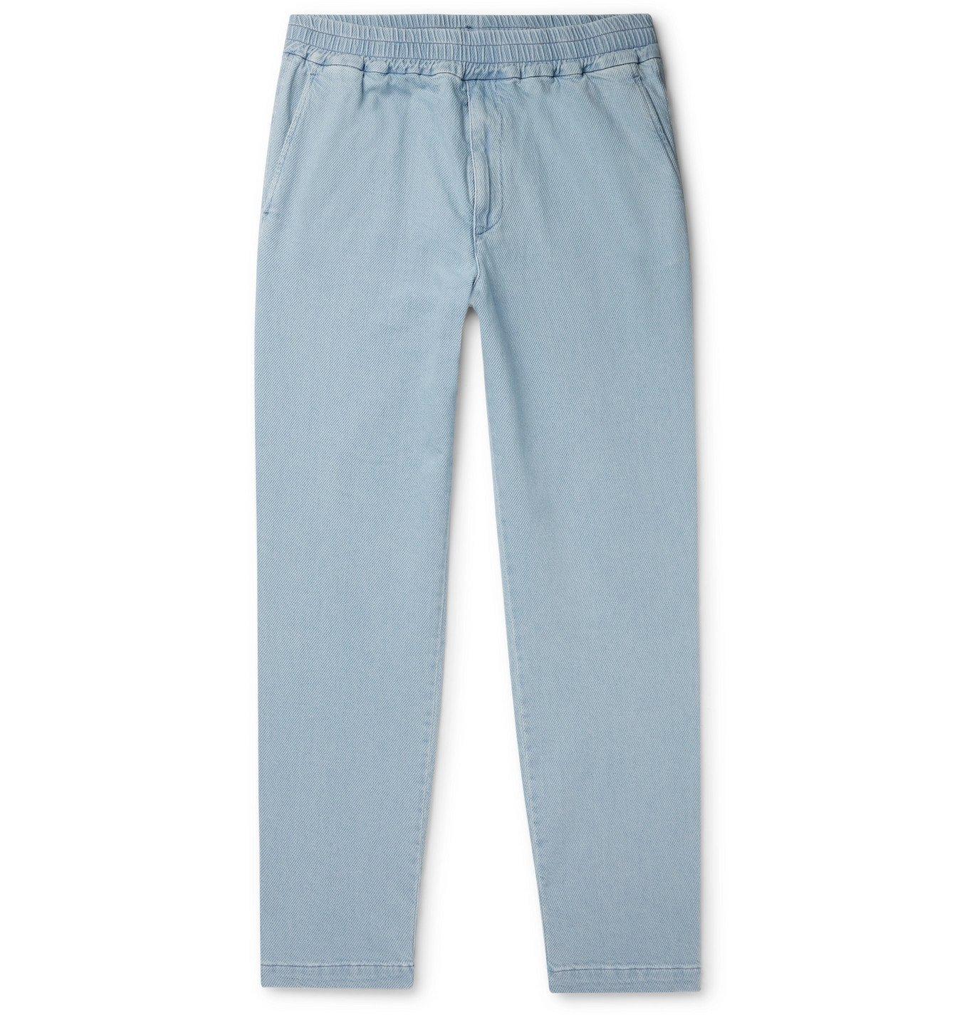 Photo: Barena - Bragola Tapered Stretch-Denim Trousers - Blue