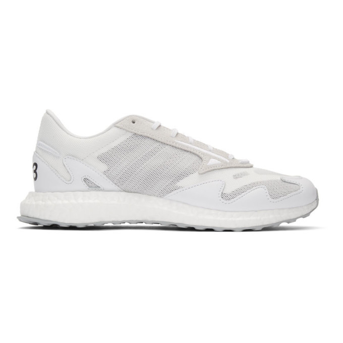 Photo: Y-3 White Rhisu Run Sneakers