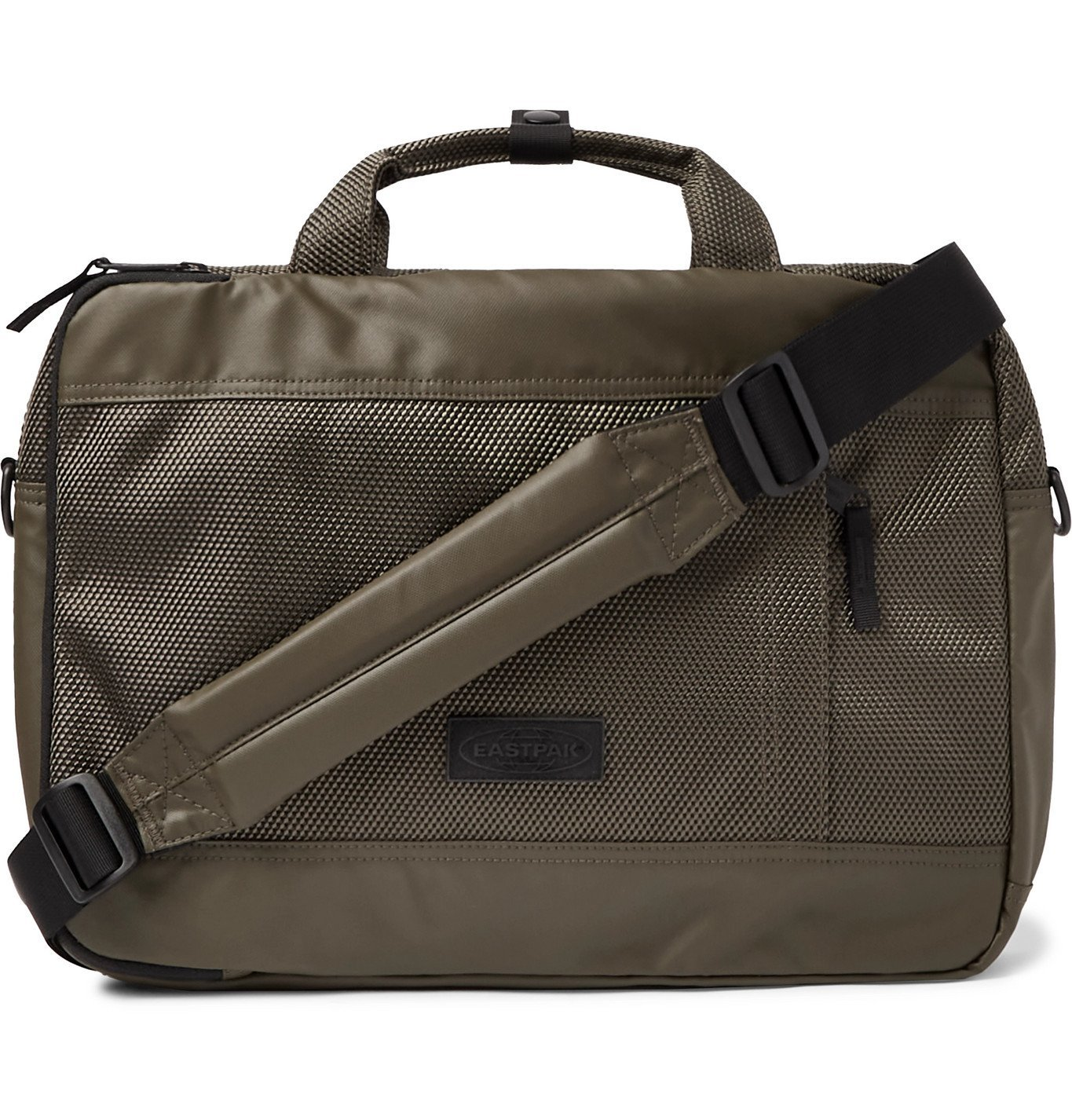 """Photo: EASTPAK - Acton CNNCT 15 Coated-Canvas Briefcase"""" - Green"""