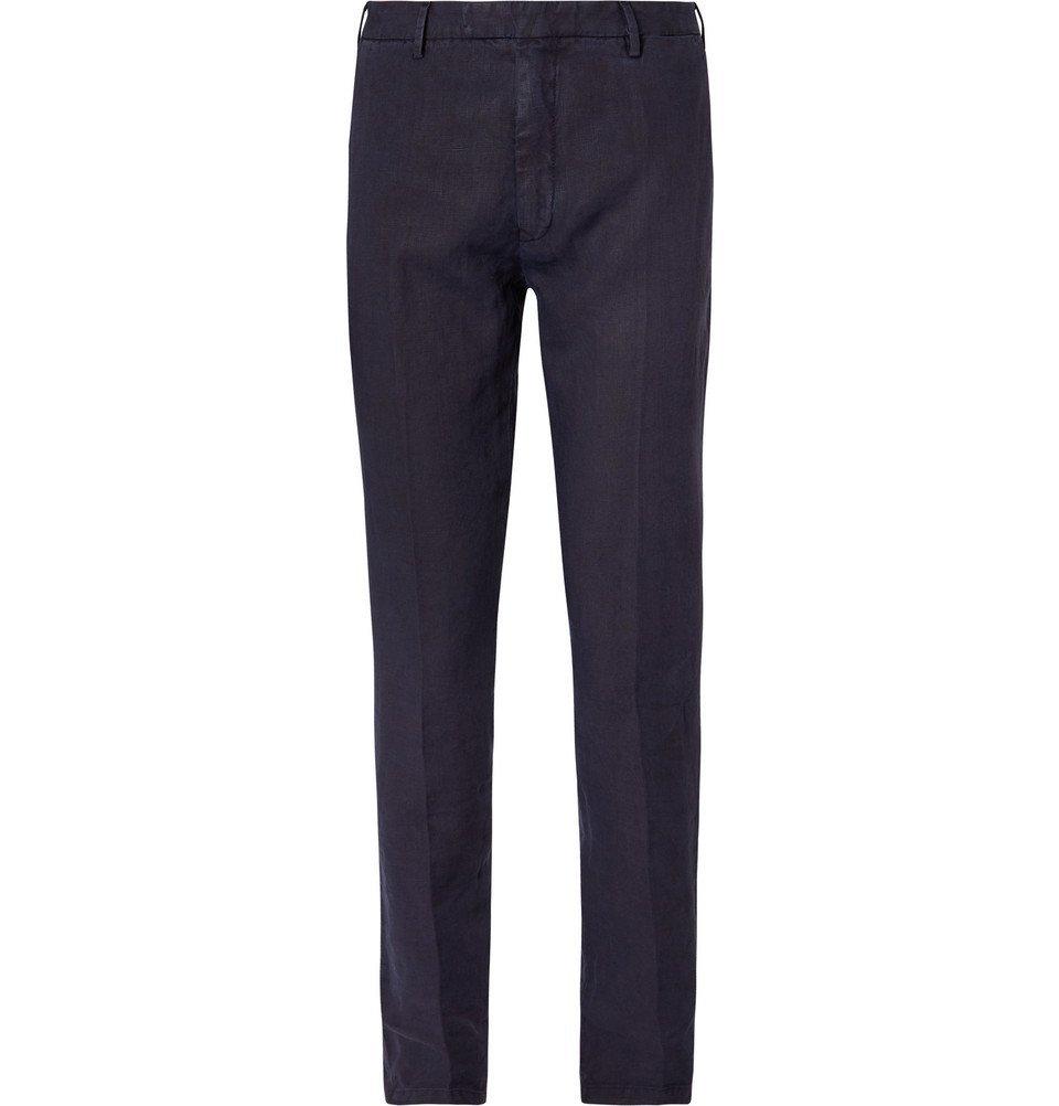 Photo: Boglioli - Navy Slim-Fit Linen Suit Trousers - Navy