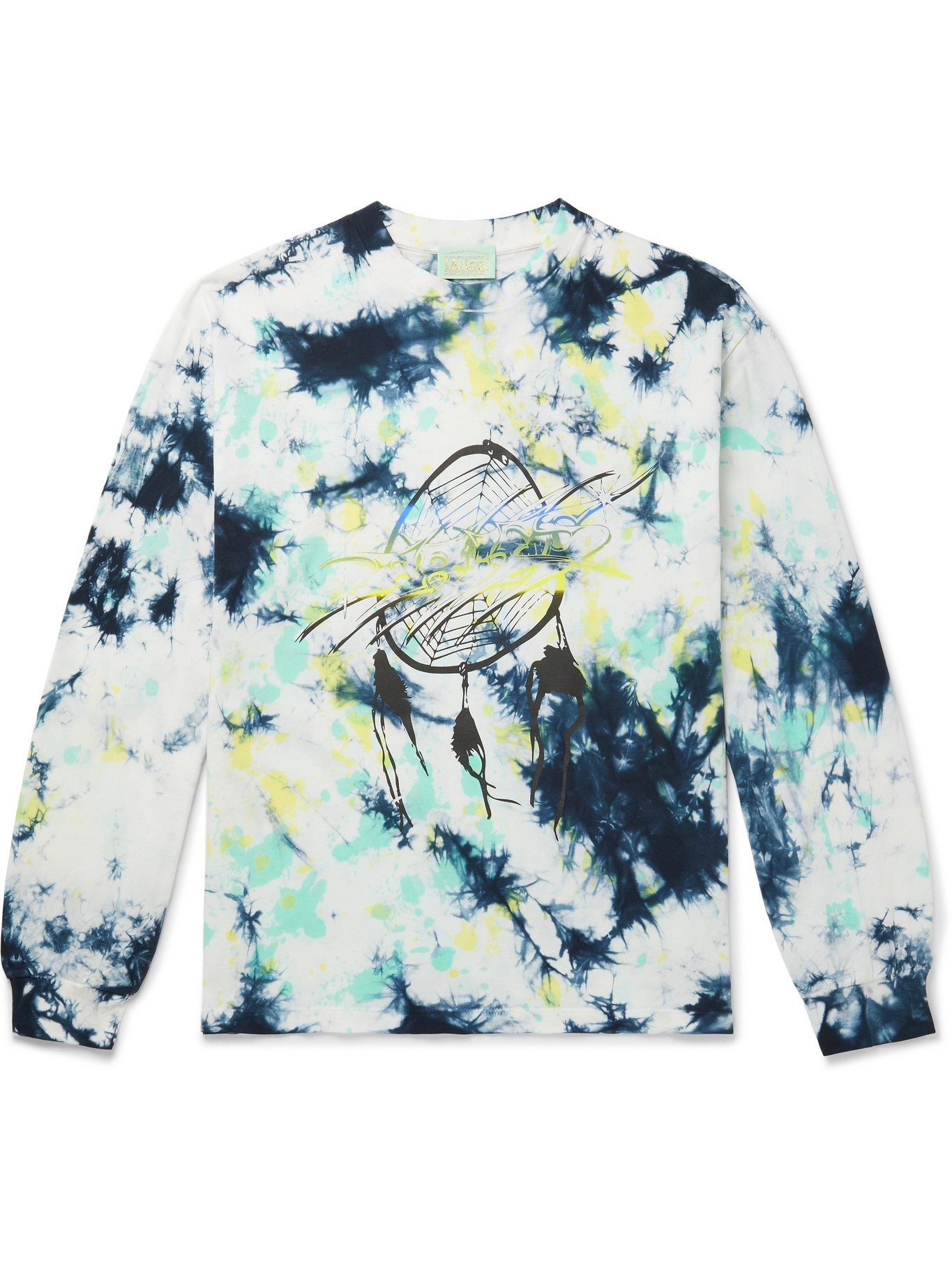 Photo: ARIES - Dreams Printed Tie-Dyed Cotton-Jersey T-Shirt - Blue