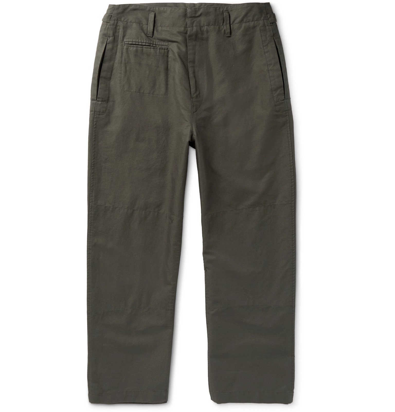 Photo: Lemaire - Cropped Cotton and Linen-Blend Trousers - Gray