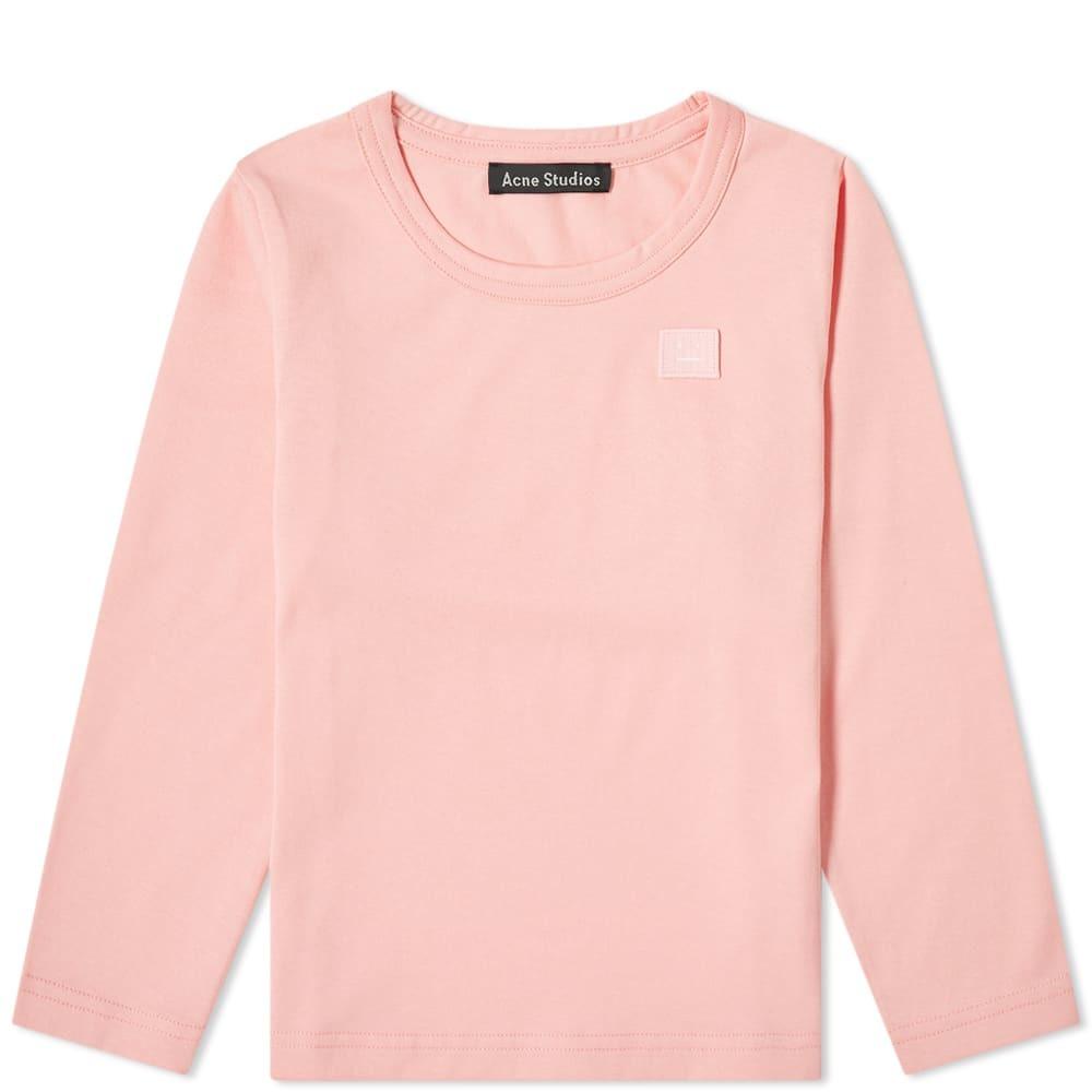 Photo: Acne Studios Mini Long Sleeve Nash Face Tee Blush Pink