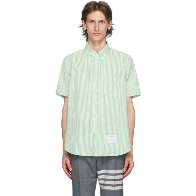 Photo: Thom Browne Green Seersucker Short Sleeve Shirt