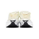 Raf Simons White and Silver adidas Originals Edition Ozweego Sneakers