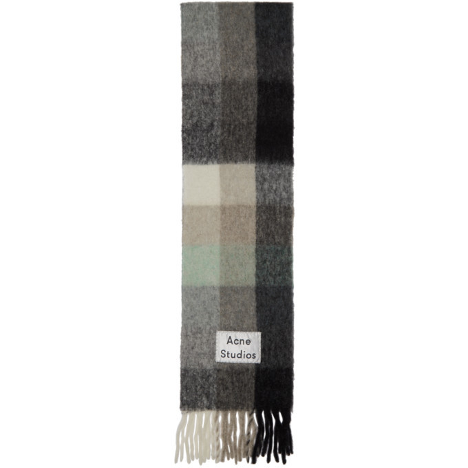 Photo: Acne Studios Green and Grey Vally Scarf
