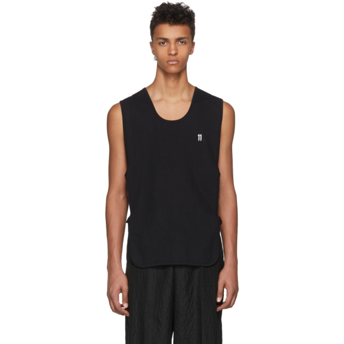 Photo: 11 by Boris Bidjan Saberi Black Sleeveless Front Logo T-Shirt