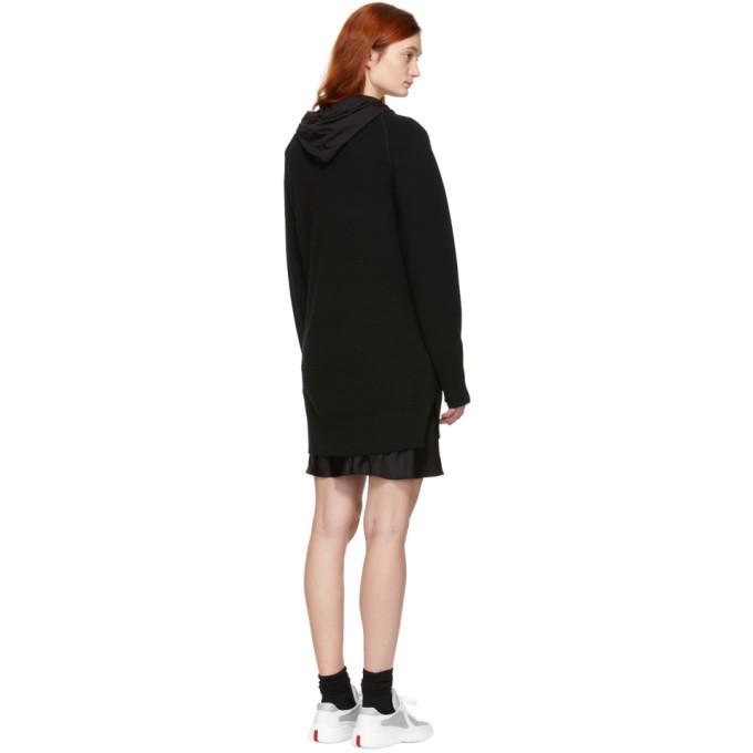 alexanderwang.t Black Bi-Layer Hooded Dress