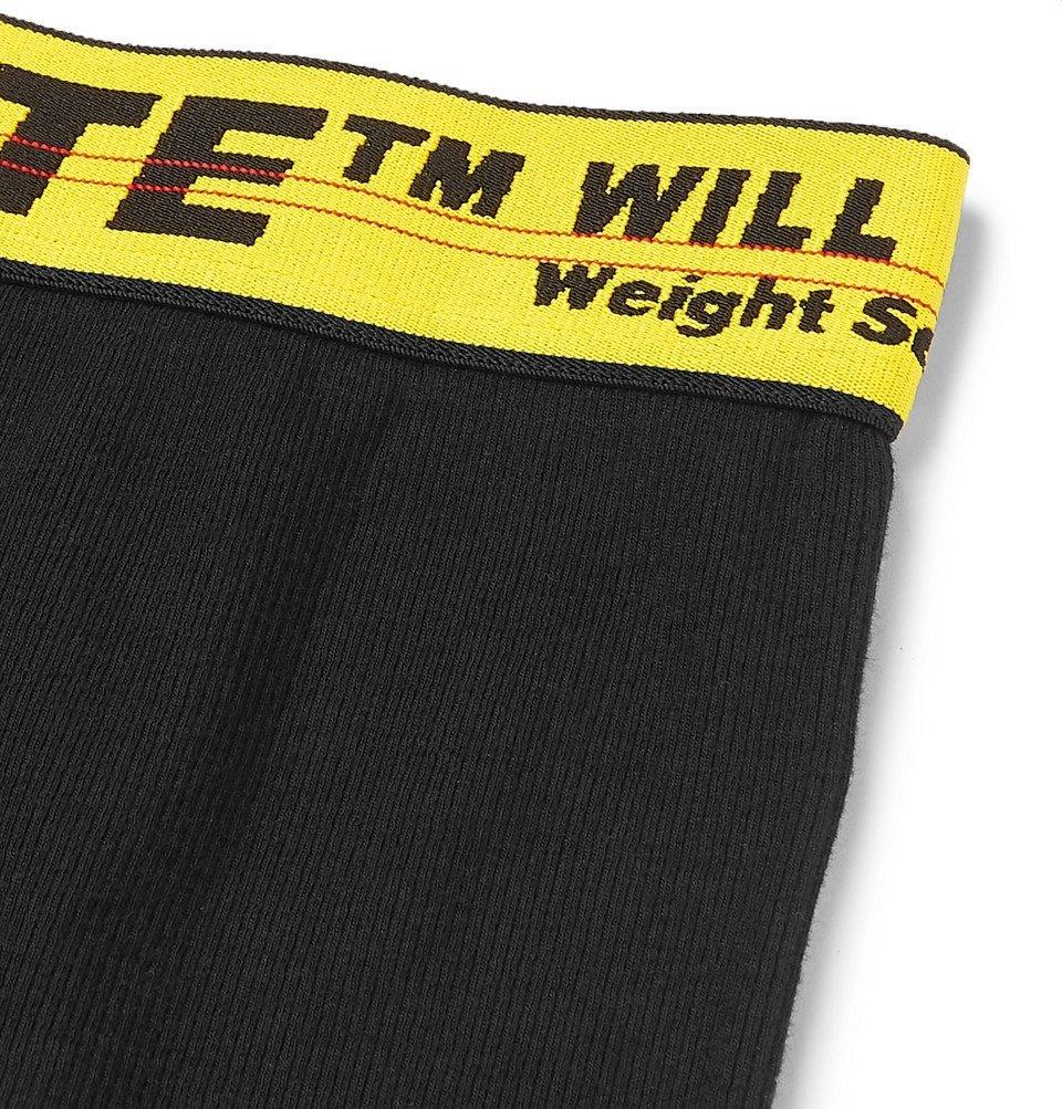 Off-White - Stretch-Cotton Boxer Briefs - Black
