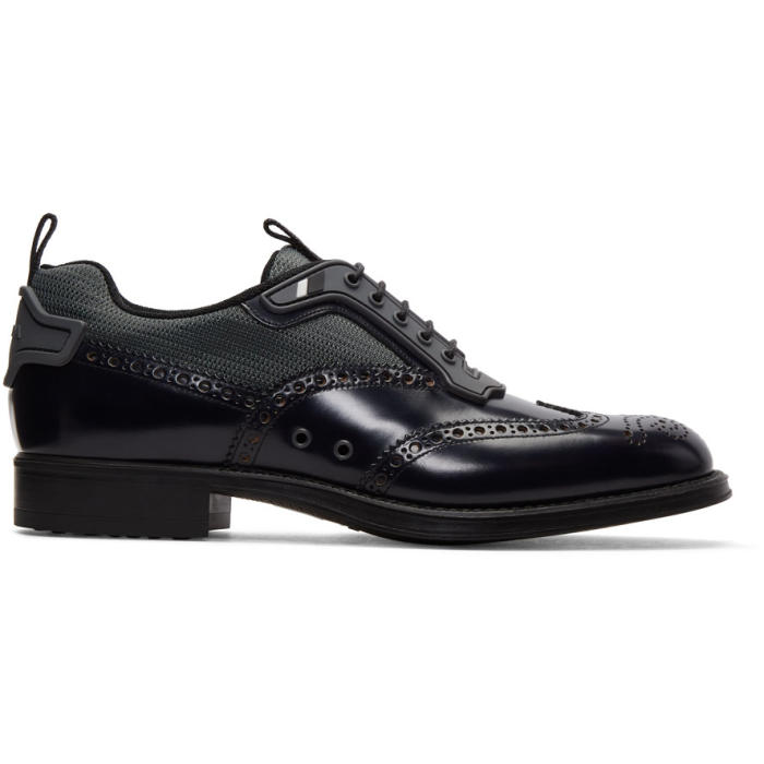 Photo: Prada Black Leather and Nylon Brogues