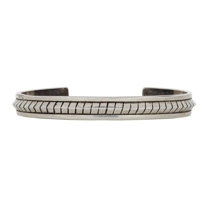 Photo: Saint Laurent Silver Folk Bracelet