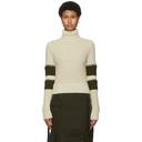 Sacai Off-White Wool Zip Sleeve Turtleneck