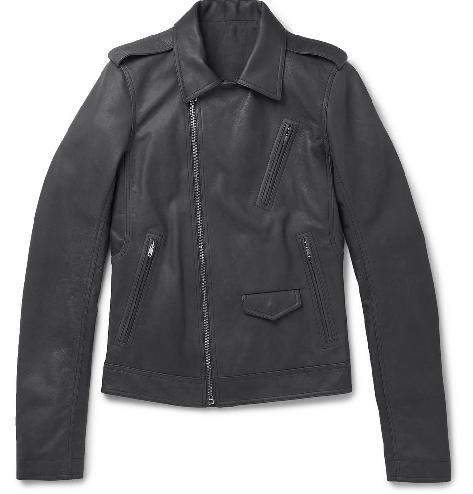 Photo: Rick Owens - Stooges Leather Biker Jacket - Men - Gray