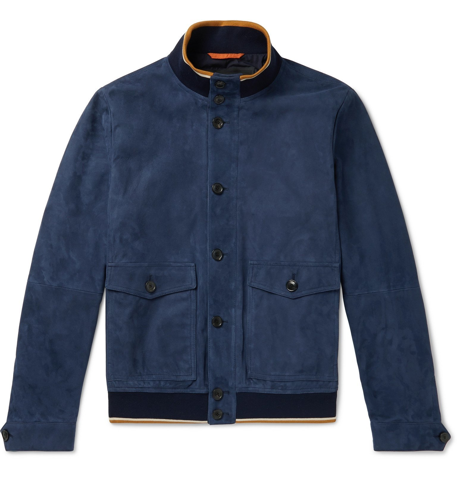 Photo: Tod's - Suede Bomber Jacket - Blue