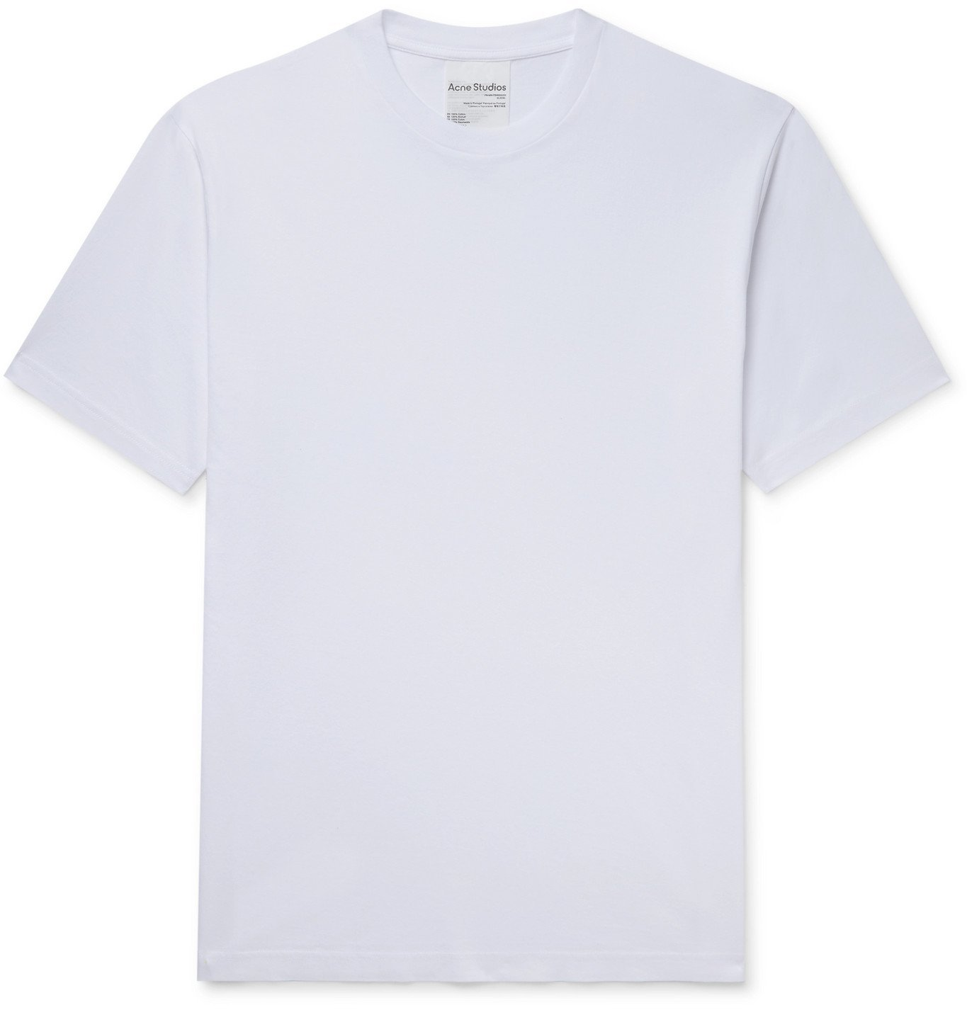 ACNE STUDIOS - Everrick Slim-Fit Cotton-Jersey T-Shirt - White