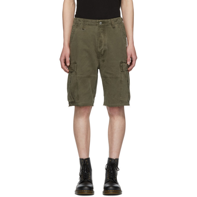 Ksubi Khaki Raws Cargo Shorts