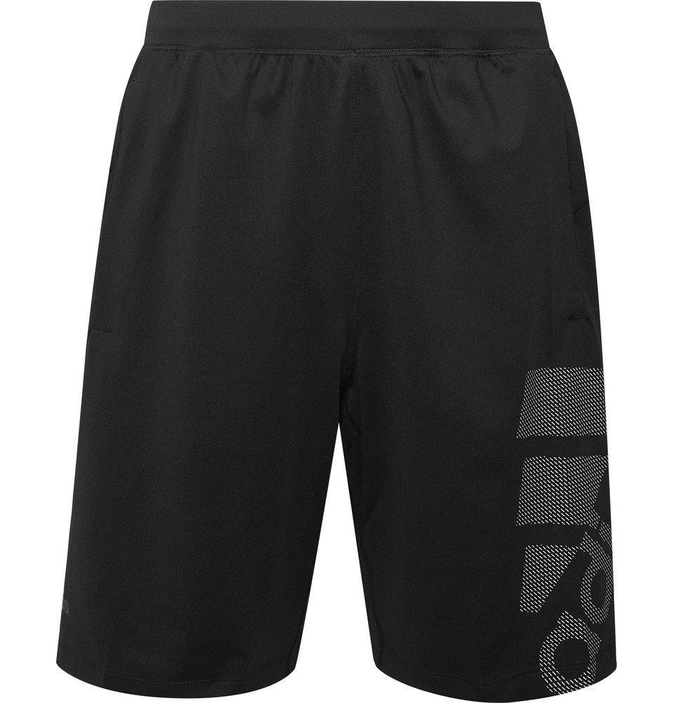 Adidas Sport - 4KRFT Sport Graphic Badge of Sport Climalite Shorts - Black