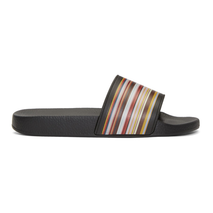 Photo: Paul Smith Multicolor MultiStripe Slides