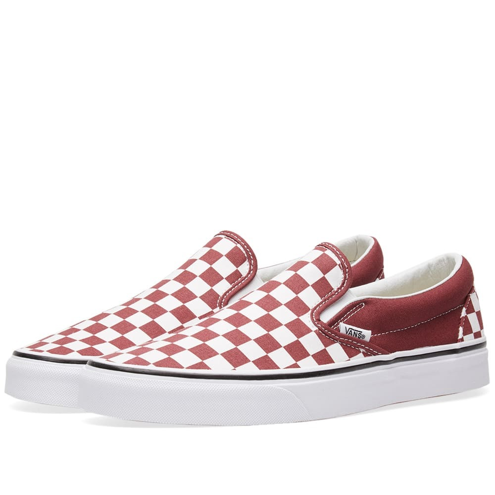 Photo: Vans Classic Slip On Checkerboard Red