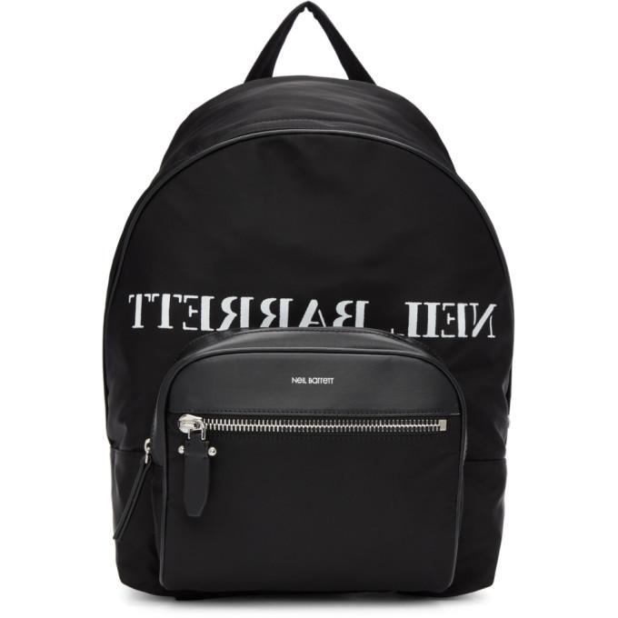 Photo: Neil Barrett Black and White Mirror Logo Backpack
