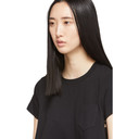 Sacai Black Embroidered Lace Back T-Shirt