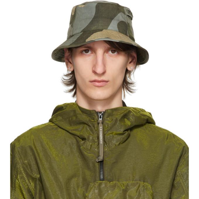 Photo: C.P. Company Grey and Khaki Camo Bucket Hat