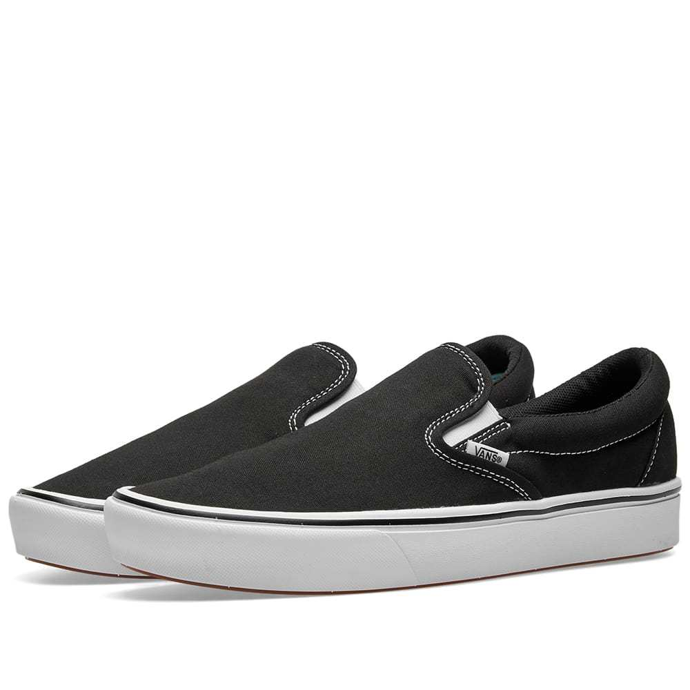 Photo: Vans UA ComfyCush Slip On Black & True White