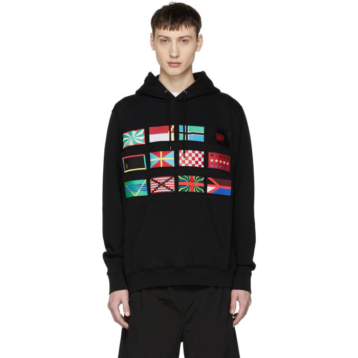 Photo: Marcelo Burlon County of Milan Black Flags Hoodie
