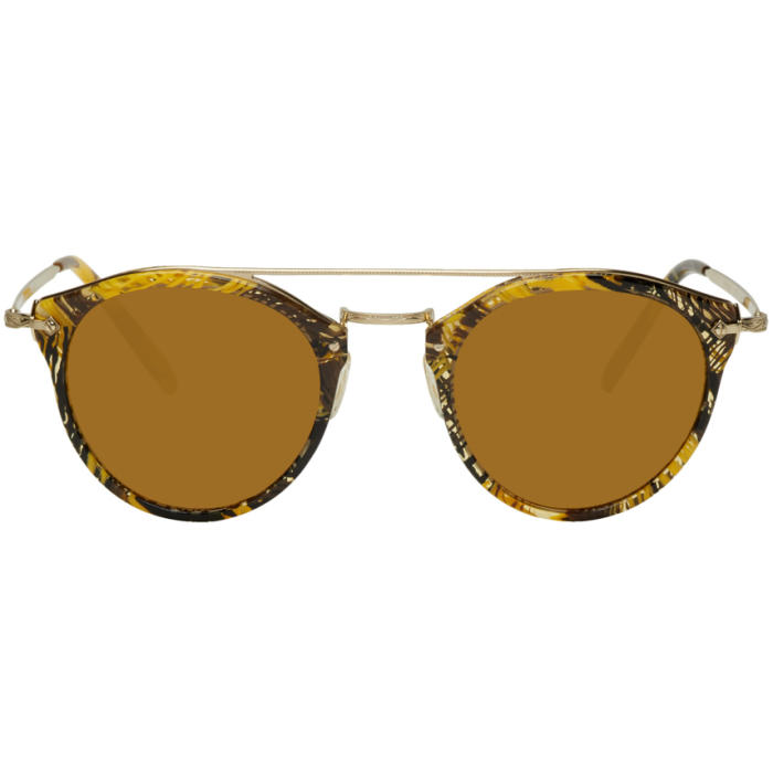 740ae2a675 Oliver Peoples pour Alain Mikli Gold Remick Sunglasses Oliver ...
