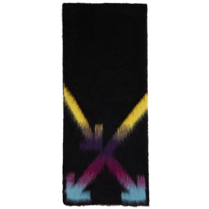Photo: Off-White Black and Multicolor Alpaca Fuzzy Arrows Scarf