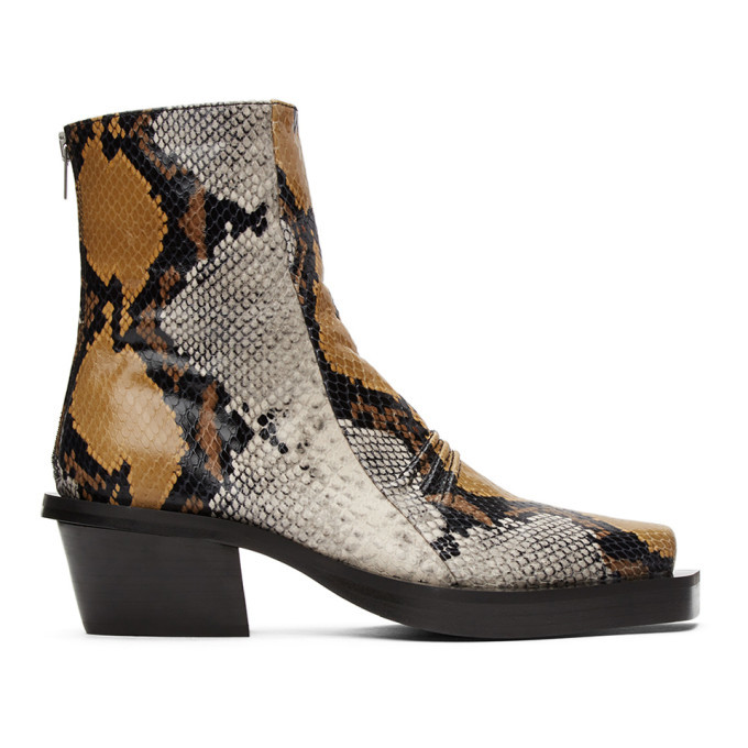 Photo: 1017 ALYX 9SM Brown Snake Leone Zip Boots