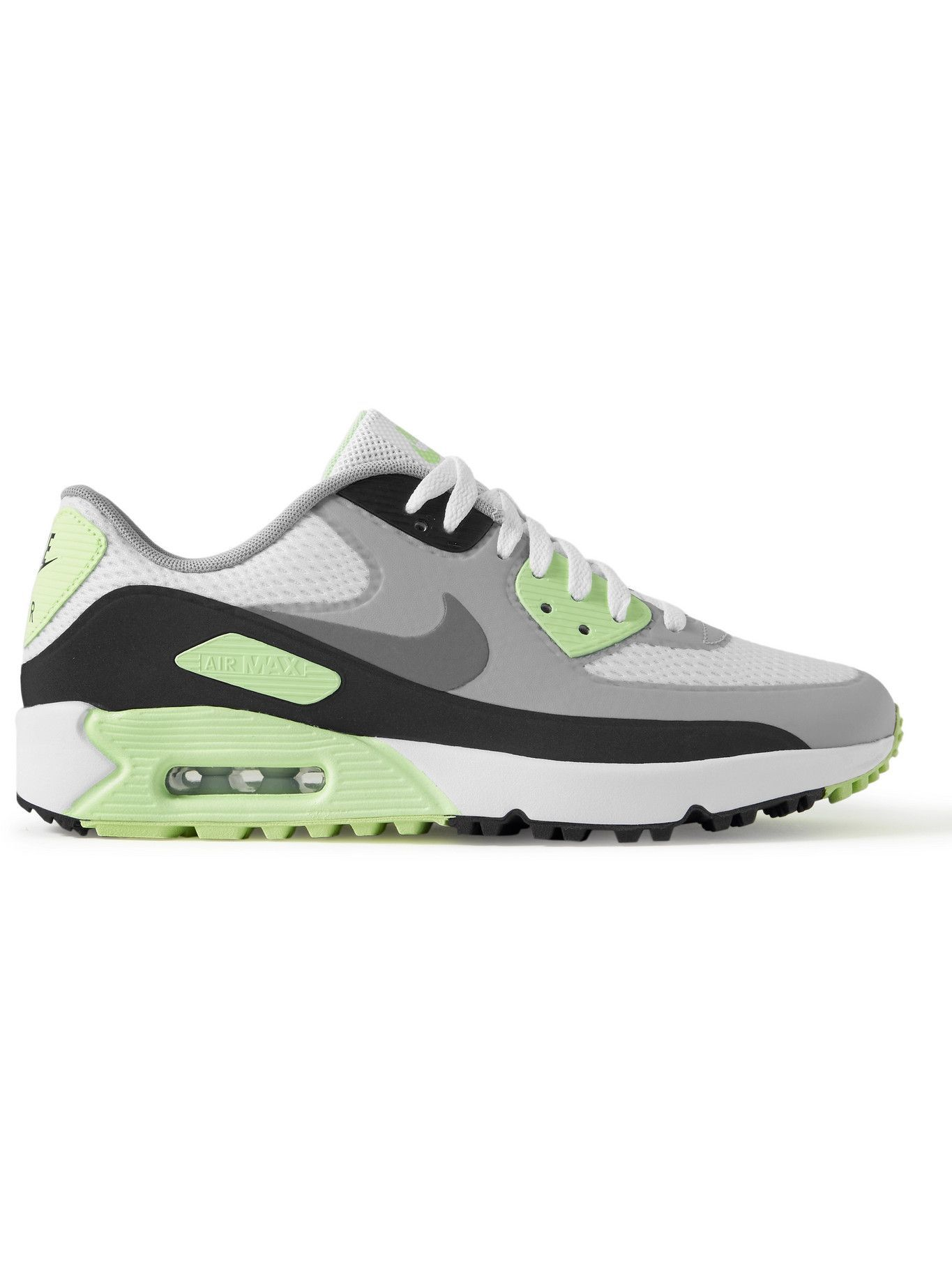 Photo: Nike Golf - Air Max 90 G Coated-Mesh Golf Shoes - White