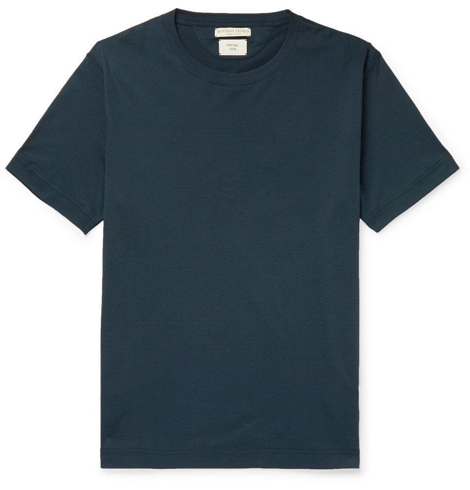 Photo: Bottega Veneta - Cotton-Jersey T-Shirt - Blue
