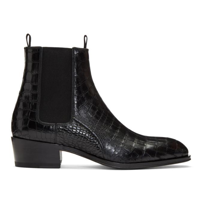 Photo: Giuseppe Zanotti Black Zanzaroun Chelsea Boots