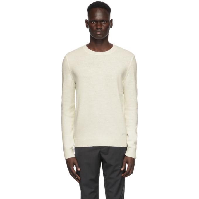 Photo: A.P.C. Off-White Wool Kit Sweater