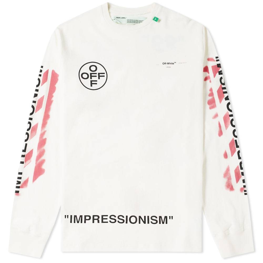 Photo: Off-White Long Sleeve Stencil Diagonals Tee