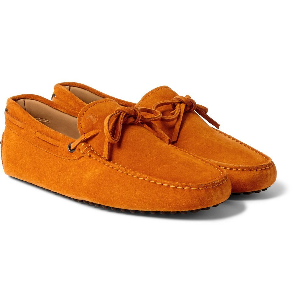Tod's - Gommino Suede Driving Shoes - Men - Orange
