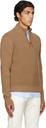 Dunhill Brown Engineered Half-Zip Sweater