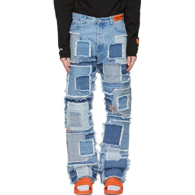 Photo: Heron Preston Blue Patchwork Jeans