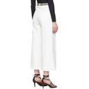 Stella McCartney White Denim Cropped Wide-Leg Jeans